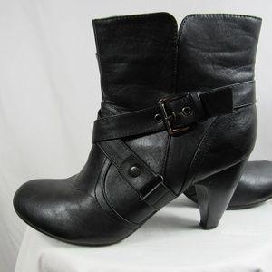 Lane Bryant Black Moto Heel Ankle Boots 11 Wide